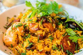image of rice  - Prawn with rice  - JPG