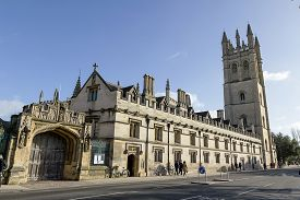 stock photo of magdalene  - Famouse Magdalen college in Oxford - JPG