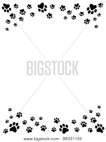 Paw Prints Frame Image ID:88331150