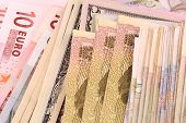pic of american money  - european and american money background - JPG