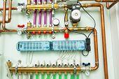 picture of boiler  - underfloor heating control system in boiler - JPG