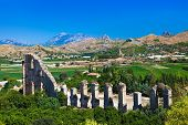foto of aqueduct  - Aqueduct at Aspendos in Antalya Turkey  - JPG