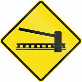 picture of railroad-sign  - Warning road sign in Chile - JPG