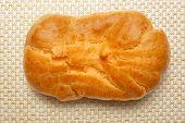 image of eclairs  - Pastry dough eclair with vanilla cream inside - JPG