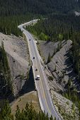 image of trans  - The Trans Canada Highway from high view - JPG