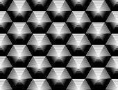 picture of striping  - Design seamless monochrome hexagon geometric pattern - JPG