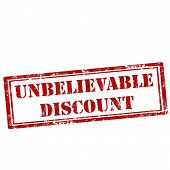 stock photo of unbelievable  - Grunge rubber stamp with text Unbelievable Discount - JPG
