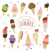 stock photo of ice-cake  - vector Ice Cream - JPG