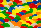 image of jelly beans  - Background of colorful jelly beans candy from a hight angle view - JPG