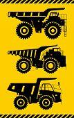 pic of heavy equipment  - Detailed illustration of mining trucks - JPG