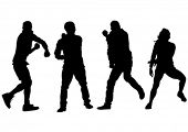 pic of rap  - Dancer people in rap style on white background - JPG