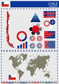picture of nationalism  - vector Chile illustration country nation national culture - JPG