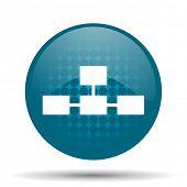 stock photo of cisco  - database blue glossy web icon  - JPG