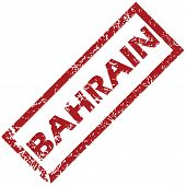 stock photo of bahrain  - New Bahrain grunge rubber stamp on a white background - JPG