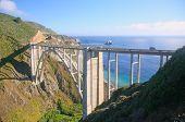 picture of bixby  - Bixby Bridge with view of Coastline in Big Sur California - JPG