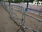 Temporary Fencing On The Mall poster