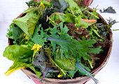 Basket Of Loose Salad Leves