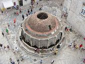 Big Onofrijo Fountain In Dubrovnik - Areal View