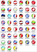 foto of yugoslavia  - European States Oficial Flags Glossy Vector Buttons - JPG