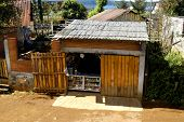 foto of peddlers  - shed houses a small roadside snack stand - JPG
