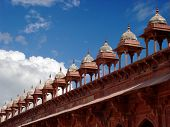 Towers To Great Mosque In Fatehpur Sikri