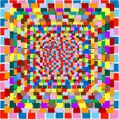 vector de mosaico de color