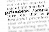 Priceless  (the Dictionary Project)