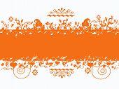 Orange Grungy Banner