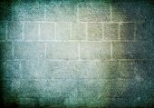 Jahrgang Brick Wall Background. Kalte Farbskala