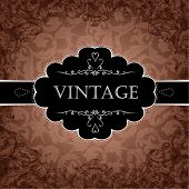 Red Vintage Frame Design For Greeting Card. Eps10.