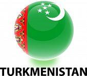Orb Turkmenistan Flag