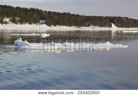 The Detached Block Of Ice