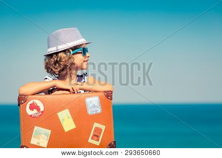 poster of Child Enjoys A Summer Vacation At The Sea