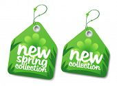New spring collection labels.