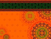 stock photo of mehendi  - Henna Mandala Background - JPG