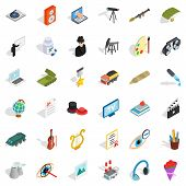Labor Icons Set. Isometric Style Of 36 Labor Icons For Web Isolated On White Background poster