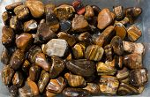 Tigers Eye And Hawks Eye Gemstone As  Mineral Rock poster