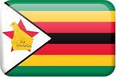 Zimbabwe Flag Button