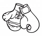 Boxing Gloves Illustration