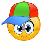 Kid emoticon wearing a baseball cap