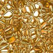 Shattered Golden Glass