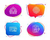 Seo Internet, Group And Engineering Documentation Icons Simple Set. Rfp Sign. Globe, Managers, Manua poster