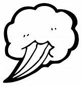 gust of wind cartoon element (raster version)