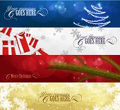 Satz von Winter Christmas Banner Vol. 01