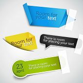 Set of various paper tags