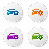 Color Car Service Icon Isolated On White Background. Auto Mechanic Service. Mechanic Service. Repair poster