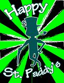 Happy St. Paddy's! Starburst Background.