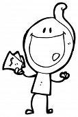historieta de hombre feliz día de pago (versión de la trama)