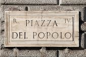 Popolo square in Rome