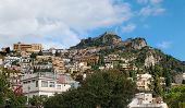 Saracene Castle on the mountain above Taormina in Sicily